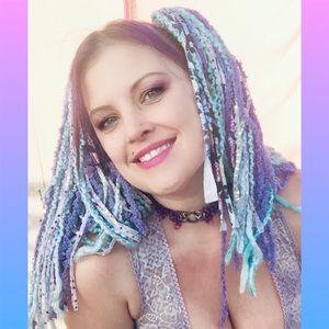 Yarn falls hand-made pastel temp hair extensions